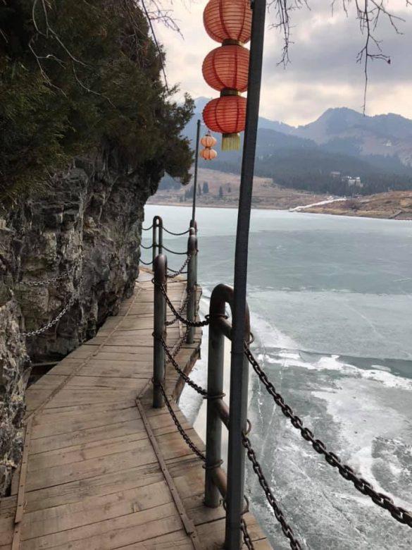 takas kalnuose Kinijoje